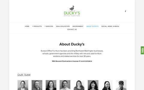 Screenshot of About Page duckys.com - About Ducky's — Ducky's Office Furniture - captured Oct. 13, 2017