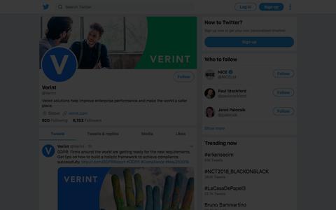 Tweets by Verint (@Verint) – Twitter