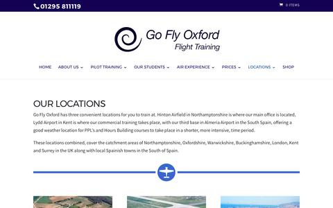 Screenshot of Locations Page goflyoxford.co.uk - Locations - Learn to fly with our flying lessons & pilot licence training - captured May 20, 2017
