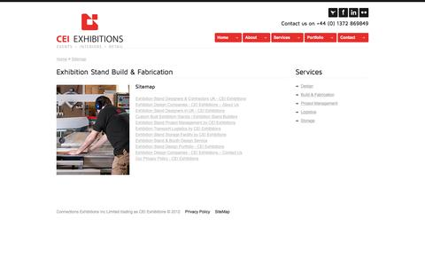 Screenshot of Site Map Page ceiexhibitions.co.uk - Custom Built Exhibition Stands   Exhibition Stand Builders - captured Dec. 5, 2015