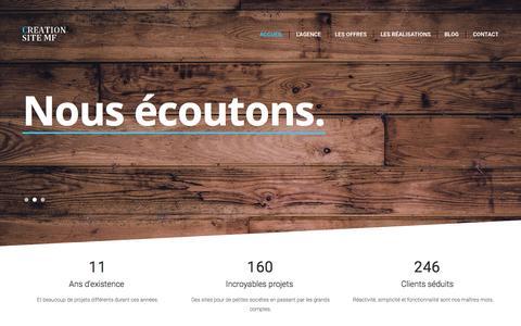 Screenshot of Home Page creation-site-mf.com - Creation web site internet mf Marseille, Aix-en-Provence site e-commerce, flash, référencement, optimisation - captured Sept. 19, 2015