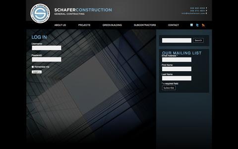 Screenshot of Login Page schafercon.com - Log In - captured Oct. 3, 2014