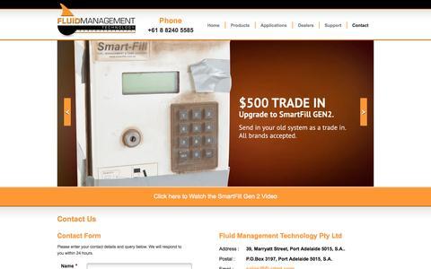 Screenshot of Contact Page fluidmt.com - Contact Us | Fluid Management Technology - captured Oct. 6, 2014