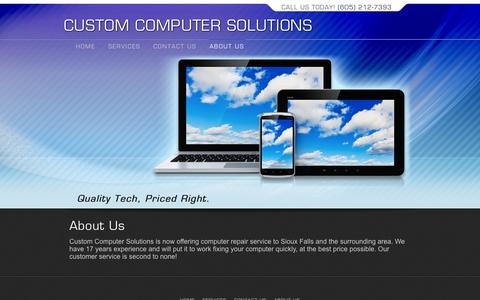Screenshot of About Page customcomputersolutions.biz - About Us - Custom Computer Solutions - captured Oct. 3, 2014