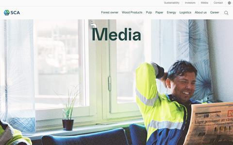 Screenshot of Press Page sca.com - Media - SCA - captured June 6, 2018