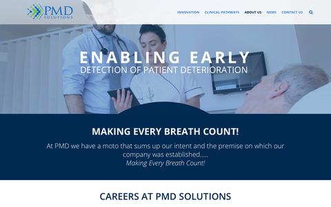 Screenshot of Jobs Page pmd-solutions.com - Careers at PMD Solutions | PMD Solutions - captured July 12, 2018