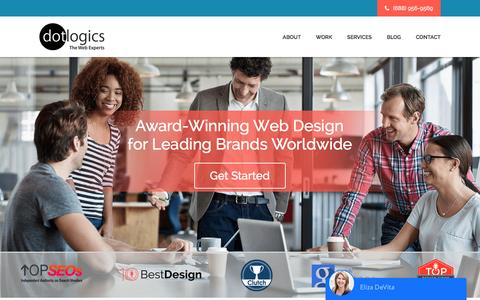 Screenshot of Home Page dotlogics.com - New York Web Design & Development Company – DotlogicsNew York Web Design & Development Company – Dotlogics - captured May 12, 2017