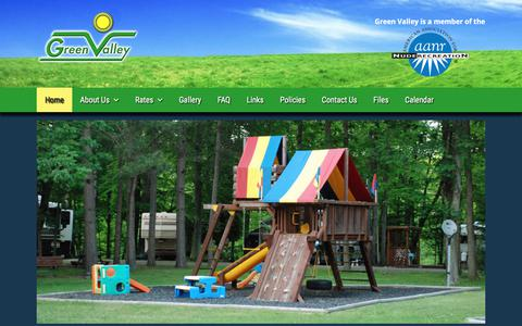 Screenshot of Home Page greenvalleyinc.net - Green Valley Nudist Camp – A family orientated, nude recreational facility in Northern Ohio - captured April 2, 2018