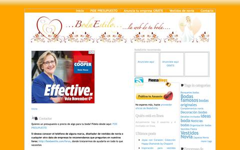 Screenshot of Contact Page bodaestilo.com - Contactar   BodaEstilo, la web de tu boda - captured Oct. 29, 2018