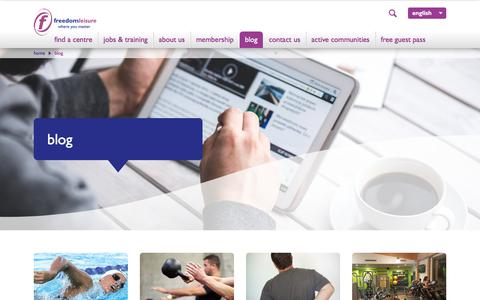 Screenshot of Blog freedom-leisure.co.uk - The Freedom Leisure Blog - captured Aug. 28, 2018
