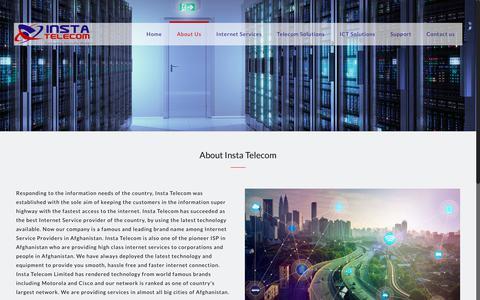 Screenshot of About Page instatelecom.com - About Us - Insta Telecom - captured July 13, 2018