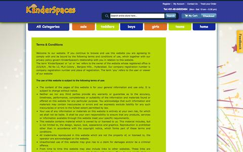 Screenshot of Terms Page kinderspaces.net - Terms and Conditions | Kinderspaces - captured Sept. 30, 2014