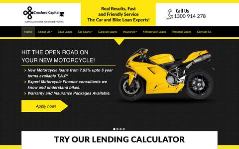 Screenshot of Home Page croxfordcapital.com.au - Croxford Capital - welcome to your online finance specialists! - captured Sept. 23, 2014