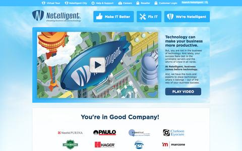 Screenshot of Home Page netelligent.com - Contract IT Services St. Louis | Managed IT Services St. Louis MO - captured Oct. 7, 2014