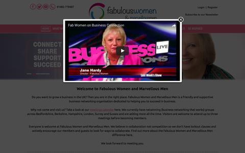 Screenshot of Home Page fabulous-women.co.uk - Calendar - Fabulous Women - captured June 5, 2017
