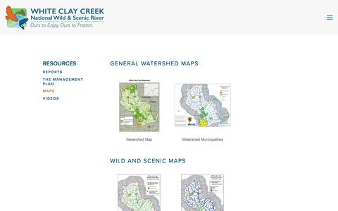 Screenshot of Maps & Directions Page whiteclay.org - Maps — White Clay Creek Wild & Scenic River - captured Dec. 20, 2016