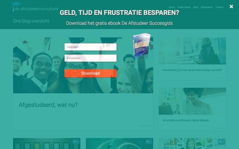 Screenshot of Blog deafstudeerconsultant.nl - Blog overzicht - captured Aug. 9, 2018