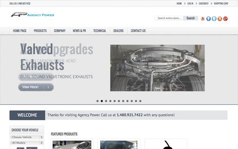 Screenshot of Home Page agency-power.com - Agency Power  - Agency Power - captured Sept. 23, 2014