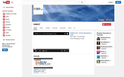 Screenshot of YouTube Page youtube.com - G4BUY  - YouTube - captured Oct. 22, 2014