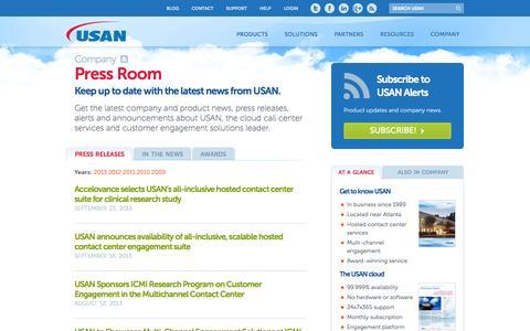 Screenshot of Press Page usan.com - The USAN Press Room | USAN - captured Sept. 30, 2014