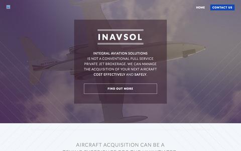 Screenshot of Home Page vipaircraftinteriors.com - INAVSOL | Integral Aviation Solutions - captured Oct. 9, 2014