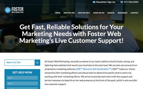 Contact Our Live Customer Support Now | Foster Web Marketing