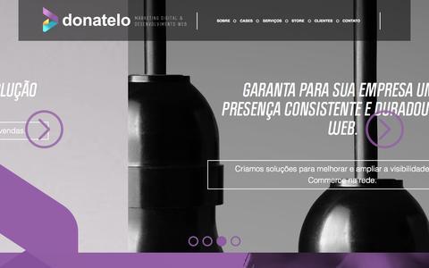Screenshot of Home Page donatelo.com.br - Agência de Ecommerce, Marketing Digital e Desenvolvimento Web - captured Sept. 12, 2015