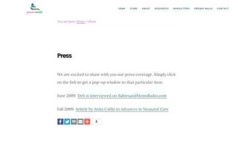 Screenshot of Press Page preemieworld.com - Press - captured Nov. 11, 2016