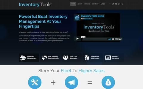 Screenshot of Home Page inventory-tools.com - Inventory Tools - Boat Dealer Inventory Management Suite - captured Oct. 1, 2018