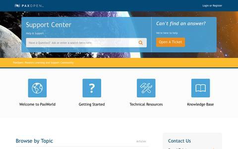 Screenshot of Support Page desk.com - Paxata          Portal - captured Nov. 8, 2016