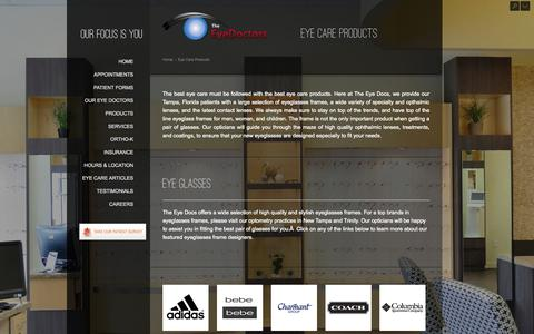 Screenshot of Products Page theeyedocs.com - Eyeglasses and Contact Lenses in New Tampa and Trinity, FL - captured Nov. 5, 2014