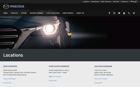 Screenshot of Locations Page mazdauae.com - Locations | Mazda UAE - captured July 9, 2017