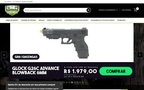 Screenshot of Home Page qgairsoft.com.br - QG Airsoft - A melhor loja de Airsoft do Brasil! - captured Sept. 22, 2018
