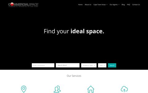 Screenshot of Home Page commercialspace.co.za - Commercial Space: Commercial Property in Cape Town - captured Aug. 21, 2019