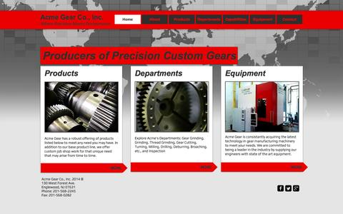 Screenshot of Home Page acmegear.com - Acme Gear Co., Inc. - captured May 28, 2017
