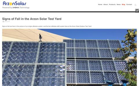 Screenshot of Blog arzonsolar.com - Solar Power Concentrated Photovoltaic Systems » Arzon Solar - captured Dec. 3, 2015