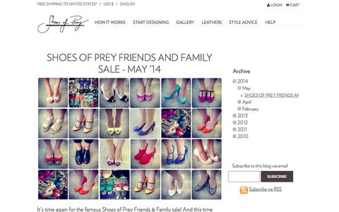 Screenshot of Blog shoesofprey.com - Our blog - Shoes of Prey - captured Sept. 17, 2014