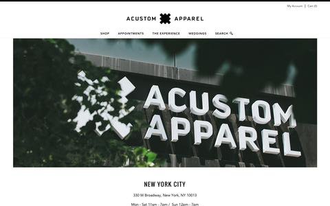 Screenshot of Locations Page acustom.com - Location                           | Acustom Apparel - captured Nov. 20, 2016
