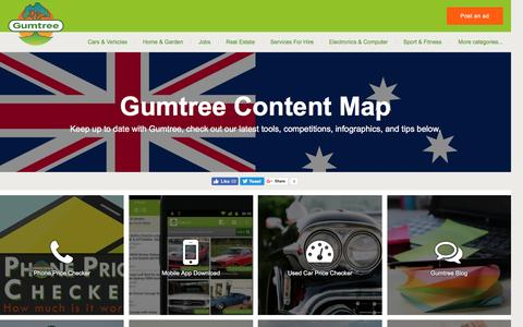Screenshot of Site Map Page gumtree.com.au - Gumtree Content Map   Gumtree Australia Free Local Classifieds - captured Aug. 19, 2016