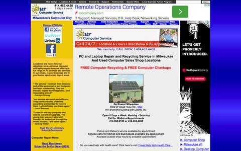 Screenshot of About Page aurcomputerservice.com - aur Computer Service - Milwaukee Computer Laptop Desktop PC Repair Used Refurbished Sales Recycling - captured Sept. 30, 2014