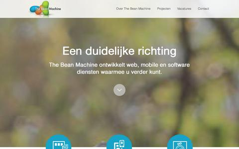 Screenshot of Home Page thebeanmachine.nl - The Bean Machine - captured Sept. 30, 2014