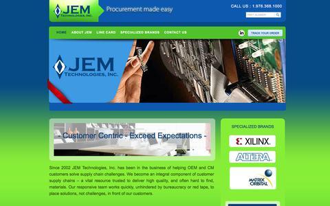Screenshot of Home Page jemtechnologies.com - JEM Technologies - Procurement Made Easy : JEM Technologies - captured Oct. 2, 2017