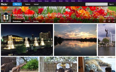 Screenshot of Flickr Page flickr.com - Flickr: Wichita Metro Chamber's Photostream - captured Oct. 26, 2014
