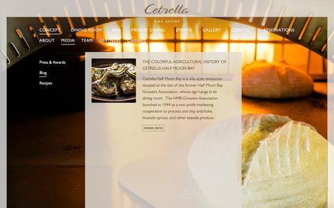 Screenshot of Blog cetrella.com - Cetrella Los Altos | Mediterranean-Rim and California Coastal Cuisine | Blog - captured Nov. 10, 2018