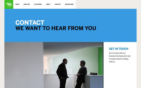 Screenshot of Contact Page frogdesign.com - Contact | frog - captured Feb. 10, 2016