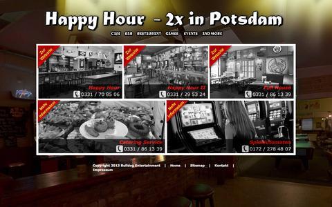 Screenshot of Home Page happyhour-potsdam.de - Happy Hour - captured June 9, 2016