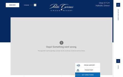 Screenshot of Contact Page portocarras.com - CONTACT US - Porto Carras - captured Sept. 22, 2018