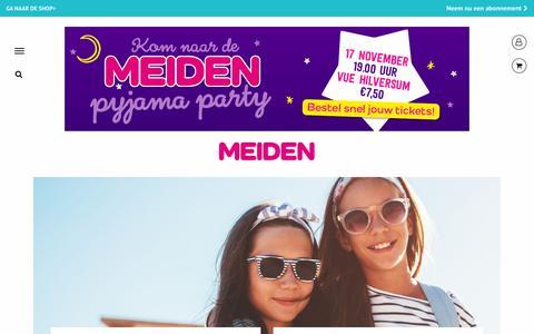 Screenshot of Login Page meidenmagazine.nl - Login - MEIDEN - captured Oct. 26, 2017