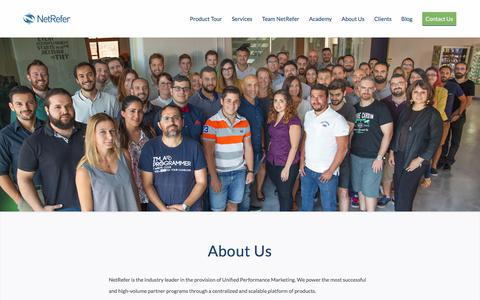 Screenshot of About Page netrefer.com - About Us | NetRefer – Unified Performance Marketing - captured Sept. 21, 2018