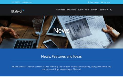 Screenshot of Press Page elateral.com - News - Elateral - captured June 15, 2018